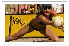 KERRI WALSH BEACH VOLLEYBALL AUTOGRAPH SIGNED PHOTO PRINT OLYMPICS