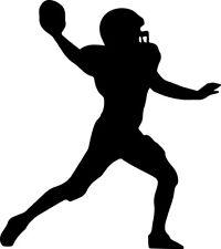 Football Player Decal Window Bumper Sticker Car Decor Quarterback Sports Ball