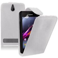 Piel Artificial Funda protectora de móvil con tapa para Sony Xperia E/E Dual