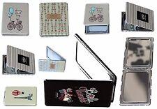 Fashionable Beauty pocket Mirror make-up Folding Small Compact Handheld Mirror