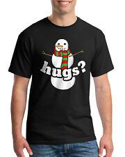 Snowman Hugs Men's T-Shirt Fun Winter Outfit