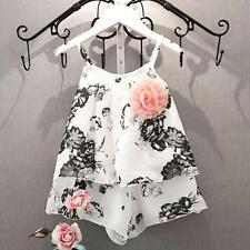 Toddler Kids Baby Girl Tank Tops Shirt+Shorts Pants Beachwear Clothes Suit 2PCS