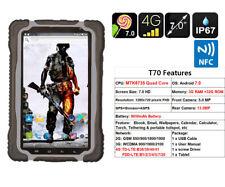 "4G LTE NFC Rugged Smartphone Tablet PC 7"" HUGEROCK T70 Quad core 64bit CPU IP67"