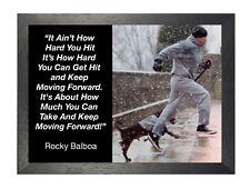 Rocky Balboa 23 Sylvester Stallone Boxer Rocky Film Motivation Zitat Poster