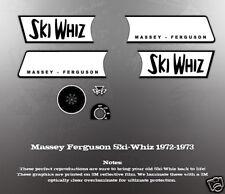 MASSEY FERGUSON SKI-WHIZ 1972-1973 HOOD DECAL SET