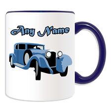 Personalised Gift Vintage Car Mug Money Box Classic Retro Sportscar Antique Cup