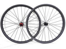 "27.5"" Carbon MTB Wheel QR 35mm Clincher Beadless Thru Axle UD Matt Rims Mountain"