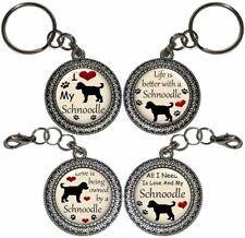 Schnoodle Dog Key Ring Key Chain Purse Charm Zipper Pull #2