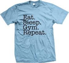 Eat Sleep Gym Repeat Train Hard Life Workout Lift Cardio Weights Men's T-Shirt