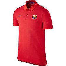 Genuino Nike Barcelona Auténtico Para Hombres Camisa Polo 2016-2017 (carmesí)