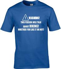 Hiking Mens T-Shirt - Funny Hobby Statement Walking Rambling Rambler Trek Trail