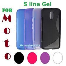 Onda línea de gel de silicona S caso cubierta trasera para Motorola Moto G (1st-2013)