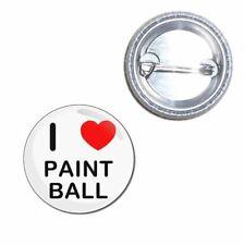 I love Paint Ball - Button Badge - Choice 25mm/55mm/77mm Novelty Fun BadgeBeast