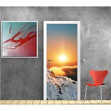 Affiche poster pour porte - Montagne soleil 703 Art déco Stickers