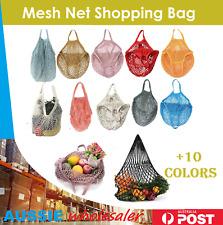 AU Mesh Net Turtle Bags String Shopping Bag Reusable Fruit Storage Handbag