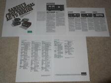 Sansui 1978 Brochure, AU20000, AU-9900, TU-9900, AU-11000, 5 pg, Specs, Info