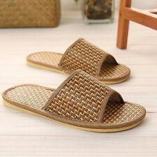 men,stripe black LOHAS Bamboo charcoal Jute Outdoor Indoor Sandals Slippers