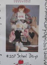 "School Days Doll country pattern Plain Jane 14"" CUTE"