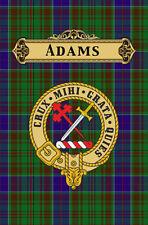 Clan escocés Adams apellido Insignia Tartán impresión de arte cartel
