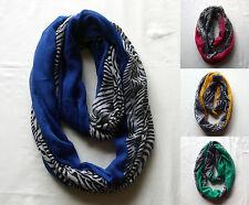 NEW Fashionable Colourful Zebra Stripe Design Infinity Loop Scarf ALL SEASONS