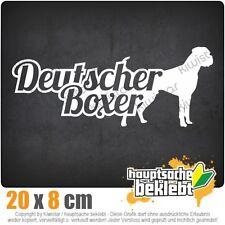Deutscher Boxer mit Name German  csf0746  JDM  Sticker Aufkleber