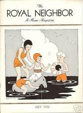 ROYAL NEIGHBORS  AMERICA Insurance Magazine July 1933