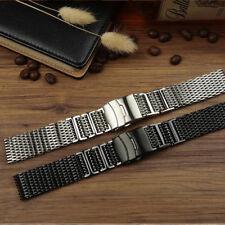 New H-Link Shark Stainless Steel Mesh Strap Bracelet Wrist Watch Band 20/22/24