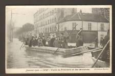 """IVRY (94) Inondation 1910 """"RESTAURANT DES 2 GARES"""""""
