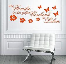 X1 WANDTATTOO Spruch - Die Familie ist das größte Geschenk im Leben Aufkleber