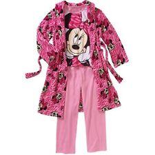 Girls' Minnie Mouse  3 PC Robe Set Size 6/6X, 7/8 & 10/12