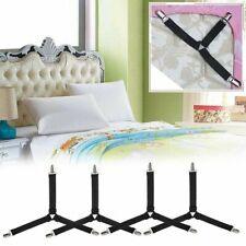 4 x Triangle Bed Sheet Mattress Holder Fastener Grippers Clips Suspender Straps