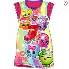 Girls Nightie Nightdress Cartoon Disney Character Shopkins