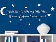 Twinkle Twinkle My Little Star Vinyl Wall Decal Sticker Nursery decor Kids Room