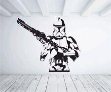 Clone Trooper De Star Wall Sticker Vinilo Gráfico calcomanía transferencia amplia guerras Ciencia Ficción
