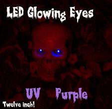 "LED GLOWING EYES HALLOWEEN UV PURPLE BLACHLIGHT 5MM 9 VOLT WIDE ANGLE 9V 12"""