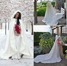 Hochzeits-Winter-Hochzeits-Mantel-Kap mit Kapuze langer Brautumhang-Schal