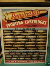 Tin Sign- Remington Sporting Cartridges- Bullets