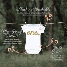 Girl First Birthday Shirt, One Glitter Gold Baby Bodysuit Infant Baby Rib Suit