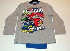 Niños Set Pijama Ropa de dormir niños Angry Birds Gris Azul 104 116 128 140 #7