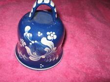 """Blue/White-Pottery Bell-Bulle-glazed-5"""""""