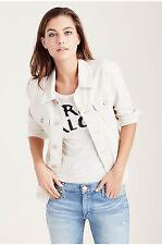 New True Religion Women's Nora Shirt Jacket Ecru $199 Size:XS S M L