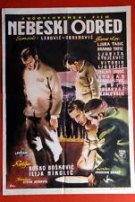 NEBESKI ODRED LJUBA TADIC 1961 RARE EXYU MOVIE POSTER