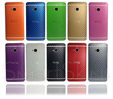 CON TRAMA IN FIBRA DI CARBONIO Avvolgere Pelle Per HTC ONE M7 COVER ADESIVO PROTECTOR CASE