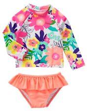 NWT Gymboree Swim shop Flower Rash Guard Set Swimsuit UPF 50+ Toddler many Sizes
