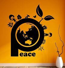 Wall Sticker Vinyl Decal Good World Greenpeace Family Happiness Decor (ig1839)