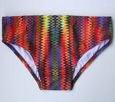 9c1a141b75 MENS Swim Brief Swimsuit Regular or Low Rise in Sizzle Print S-M-L-XL