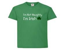 Childrens Saint Patricks Day Tee Shirt, I'm Not Naughty I'm Irish Funny T Shirt