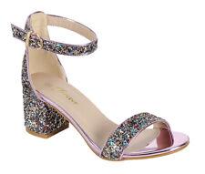 New women's shoes evening sprinkle buckle closure mid heel wedding Pink