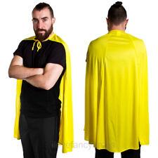 "YELLOW SUPERHERO CAPE 40"" FANCY DRESS COMIC BOOK TV MOVIE CHARACTER COSTUME"