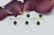 Adjustable Toe Rings-Choose Your Finish-Rainbow Dark Swarovski Crystal Elements